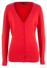 Czerwony sweter bonprix na co dzień, casualowy