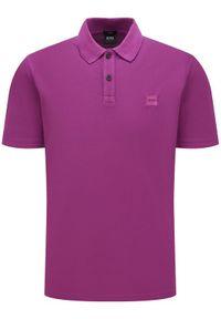 Fioletowa koszulka polo BOSS polo