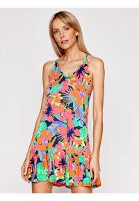 Sukienka letnia w kolorowe wzory