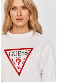 Biała bluza Guess Jeans bez kaptura, na co dzień