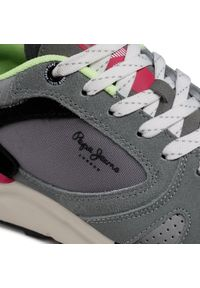 Szare sneakersy Pepe Jeans z cholewką, na co dzień