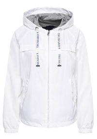 Biała kurtka przejściowa Trussardi Jeans