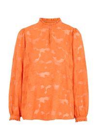 Freequent Bluzka Dagna pomarańczowy female pomarańczowy M (40). Kolor: pomarańczowy. Materiał: tkanina. Długość: długie. Styl: elegancki