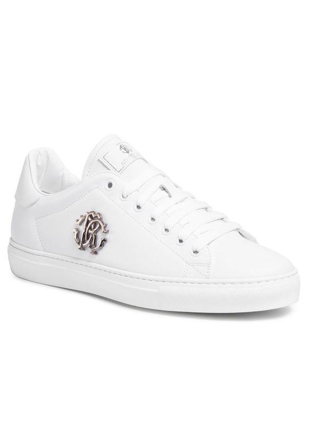 Białe sneakersy Roberto Cavalli