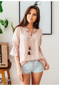 Różowa bluzka Fanaberia.com na lato, boho