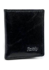 ROVICKY - Portfel męski etui na karty czarne Rovicky N1909-RVTK BLACK. Kolor: czarny. Materiał: skóra. Wzór: gładki