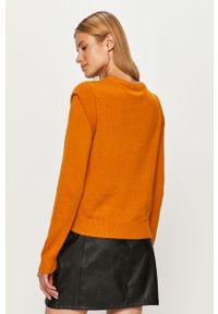 Pomarańczowy sweter Noisy may na co dzień, długi, z długim rękawem, z okrągłym kołnierzem #5