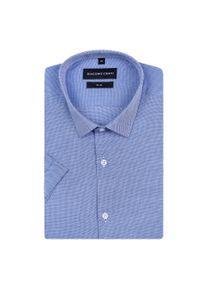 Niebieska koszula Giacomo Conti krótka, w kolorowe wzory