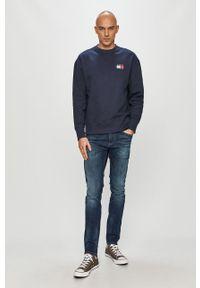 Niebieska bluza nierozpinana Tommy Jeans z aplikacjami, casualowa