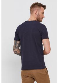 Calvin Klein Jeans - T-shirt bawełniany. Okazja: na co dzień. Kolor: niebieski. Materiał: bawełna. Styl: casual