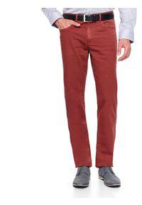 Czerwone spodnie TOP SECRET casualowe, na wiosnę