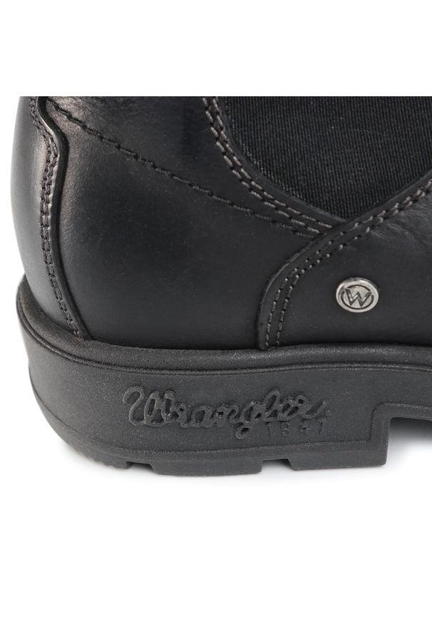 Czarne buty zimowe Wrangler z cholewką, klasyczne