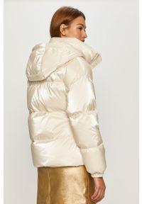 Kremowa kurtka Miss Sixty klasyczna, z kapturem