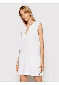 Biała sukienka letnia Lauren Ralph Lauren na plażę