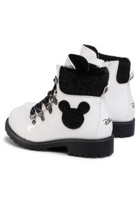 Białe buty zimowe Mickey&Friends z cholewką