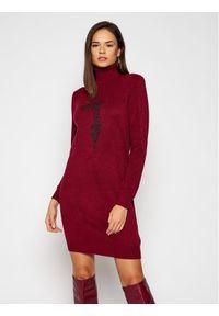 Czerwona sukienka dzianinowa Trussardi Jeans