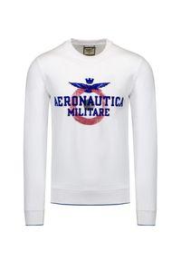 Aeronautica Militare - Bluza AERONAUTICA MILITARE. Okazja: na co dzień. Materiał: bawełna, jeans, elastan. Wzór: moro, prążki, nadruk. Styl: klasyczny, casual, militarny