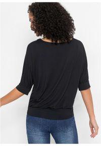 Czarna bluzka bonprix z aplikacjami