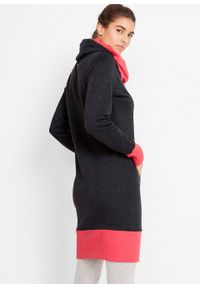 Czarna sukienka bonprix z długim rękawem