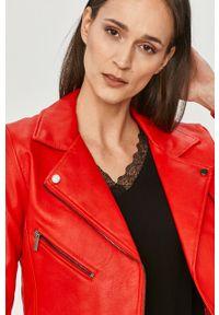 Czerwona kurtka only na co dzień, casualowa, bez kaptura