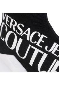 Czarne półbuty Versace Jeans Couture z cholewką