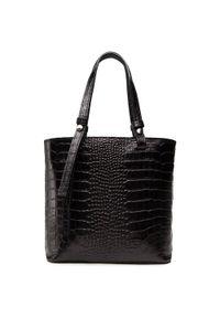 Creole - Torebka CREOLE - K10714 Czarny Wąż. Kolor: czarny. Materiał: skórzane. Styl: elegancki, klasyczny, casual