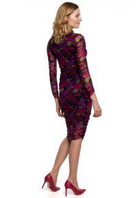 Makover - Zmysłowa mocno dopasowana sukienka z siateczki. Okazja: na co dzień. Typ sukienki: dopasowane. Styl: casual