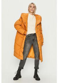 Pomarańczowa kurtka Noisy may na co dzień, casualowa