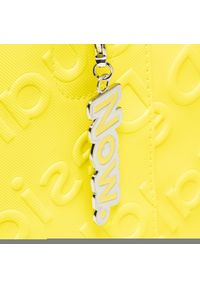 Żółta shopperka Desigual z aplikacjami, skórzana