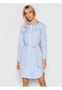 Polo Ralph Lauren Sukienka koszulowa 211781122001 Biały Regular Fit. Typ kołnierza: polo. Kolor: biały. Typ sukienki: koszulowe