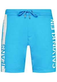 Niebieskie spodenki sportowe Calvin Klein Jeans