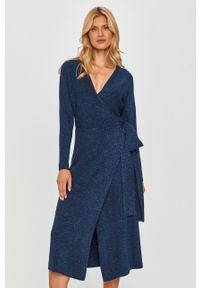 Niebieska sukienka MAX&Co. z długim rękawem, prosta