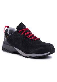 Czarne buty trekkingowe Jack Wolfskin z cholewką, trekkingowe