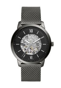 Fossil - FOSSIL - Zegarek ME3185. Kolor: szary. Materiał: materiał