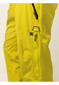 Żółte spodnie sportowe DC snowboardowe