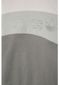 Szara bluza adidas Originals na co dzień, casualowa, bez kaptura