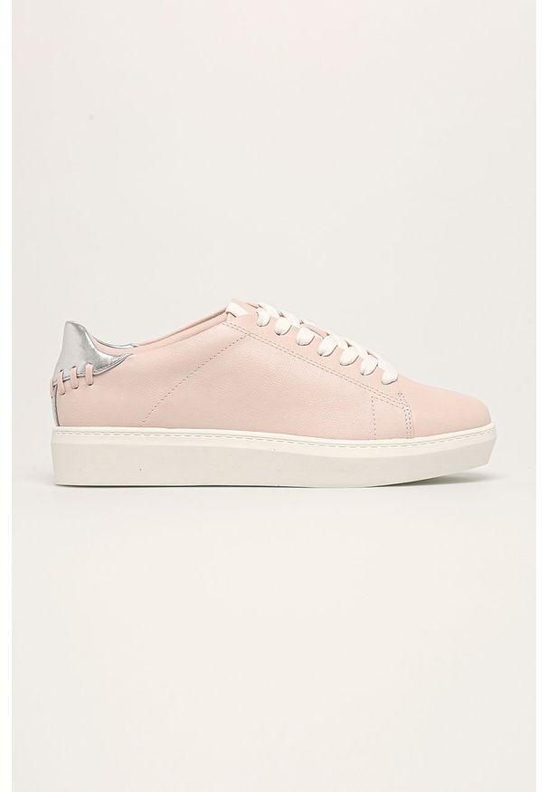 Różowe buty sportowe Call It Spring z cholewką, na sznurówki, z okrągłym noskiem