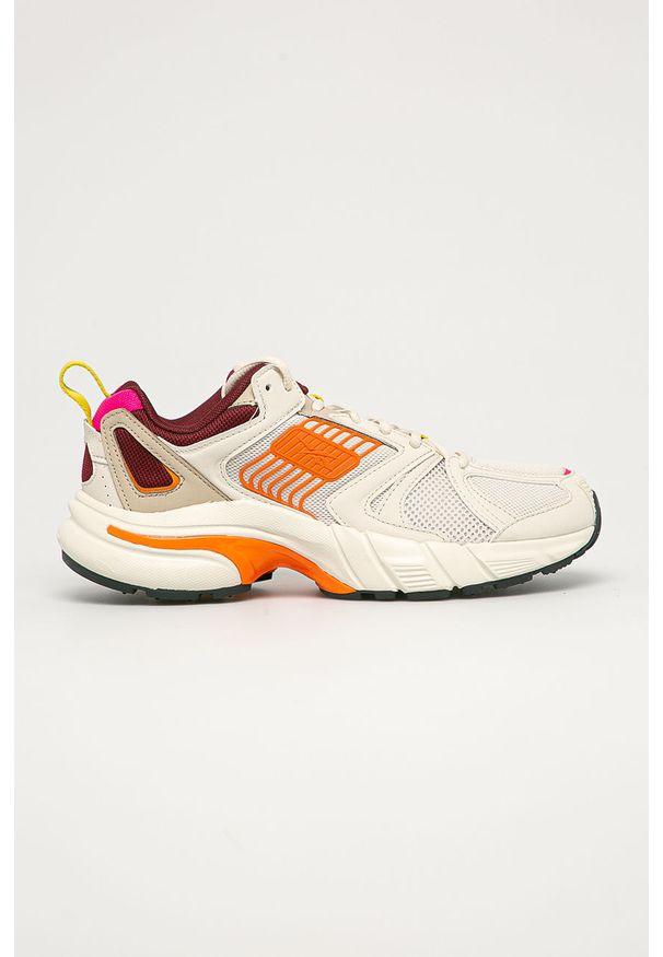 Beżowe buty sportowe Reebok Classic z okrągłym noskiem, Reebok Classic, z cholewką