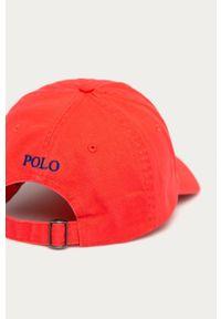 Czerwona czapka z daszkiem Polo Ralph Lauren gładkie