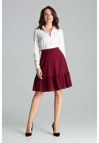 Czerwona spódnica rozkloszowana Katrus