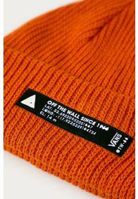Pomarańczowa czapka Vans z aplikacjami