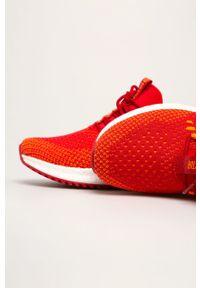Czerwone sneakersy Big-Star na sznurówki, z okrągłym noskiem