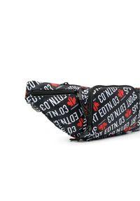 DSQUARED2 - Czarna nerka z nadrukiem w logo. Kolor: czarny. Materiał: tkanina, poliester. Wzór: nadruk