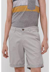 Jack & Jones - Szorty. Okazja: na co dzień. Kolor: szary. Materiał: tkanina, elastan, bawełna. Wzór: gładki. Styl: casual #1