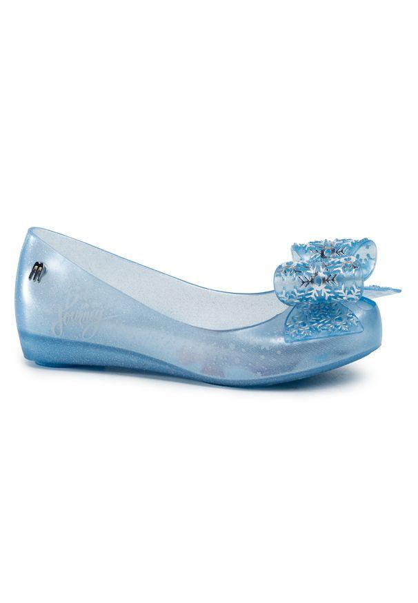 Niebieskie baleriny melissa klasyczne, z cholewką
