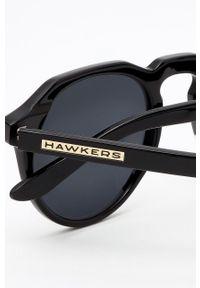 Hawkers - Okulary BLACK DARK WARWICK. Kształt: okrągłe. Kolor: czarny