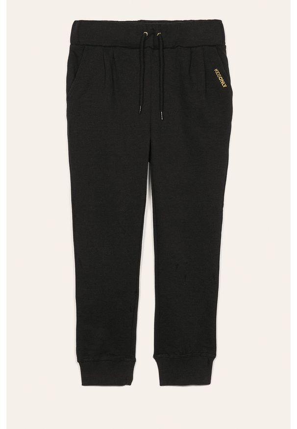 Czarne spodnie dresowe Kids Only melanż