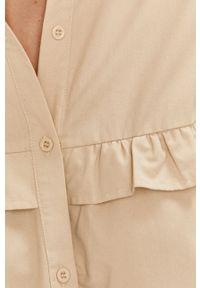 Beżowa koszula Answear Lab długa, wakacyjna