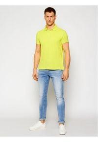Trussardi Jeans - Trussardi Polo Piquet 52T00492 Żółty Regular Fit. Typ kołnierza: polo. Kolor: żółty