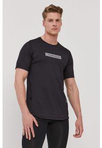 Czarny t-shirt Calvin Klein Performance na co dzień, z nadrukiem, casualowy